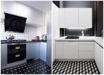Черно-белая кухня 2