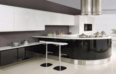 Черно-белая кухня 7