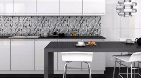 Черно-белая кухня 5